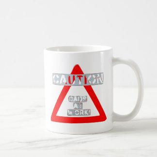 Caution Dads At Work Mug