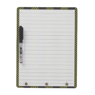 Caution Dry Erase White Board