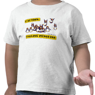 Caution: Falling Penguins Tees