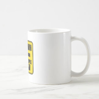 Caution Fugly People Ahead Apparel and Gifts Basic White Mug