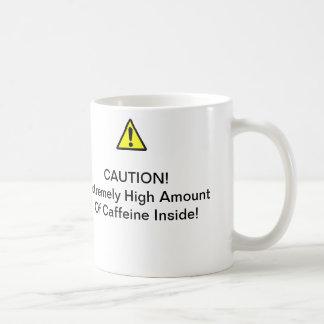Caution. High Caffeine mug