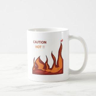 CAUTION HOT FLAMES COFFEE MUG