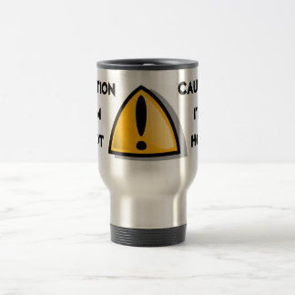 CAUTION I'M HOT Aluminum Travel Mug