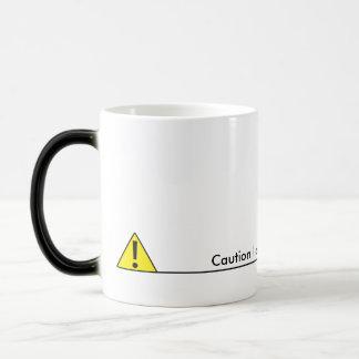Caution liquid level to low morphing mug