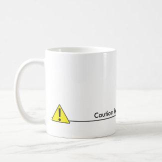 Caution liquid level to low basic white mug