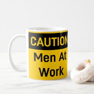 CAUTION Men at Work Coffee Mug