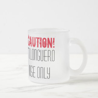 Caution! Milonguero Use Only Tango Frosted Glass Coffee Mug