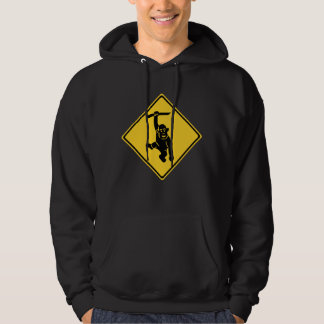 Caution Monkeys, Traffic Sign, Taiwan Hoodie