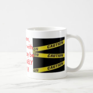 Caution Basic White Mug