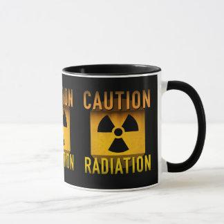 Caution Radiation Symbol Retro Atomic Age Grunge : Mug