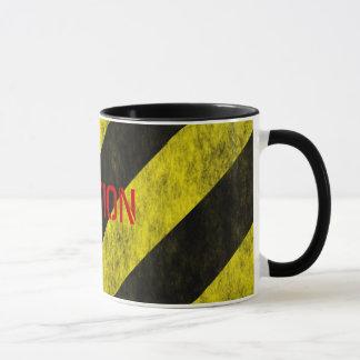 CAUTION Safety Stripe Tape Mug