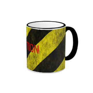CAUTION Safety Stripe Tape Ringer Mug