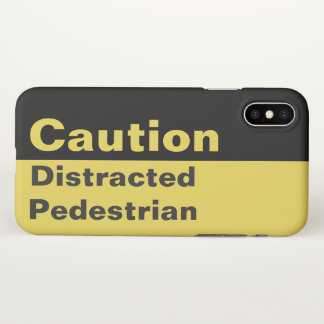 Caution Sign | Distracted Pedestrian iPhone Case