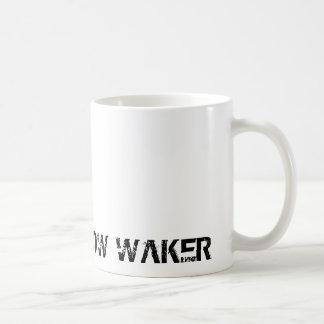 CAUTION: SLOW WAKER CLASSIC WHITE COFFEE MUG