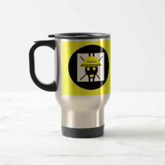 Caution Stainless Steel Travel Mug