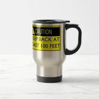 CAUTION! Travel mug