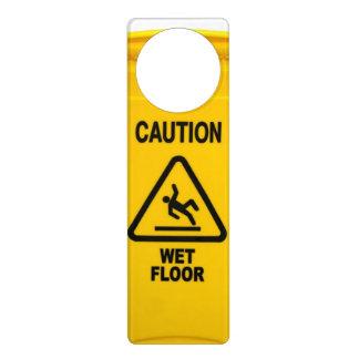 Caution Wet Floor Door Hanger