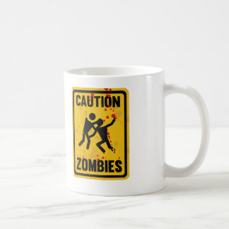 Caution Zombies Coffee Mug