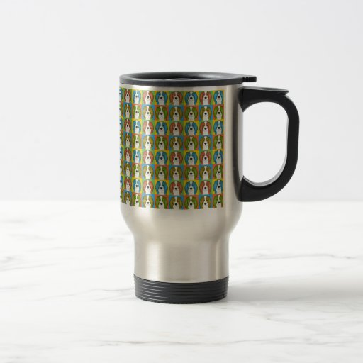 Cavalier King Charles Spaniel Dog Cartoon Pop-Art Coffee Mug