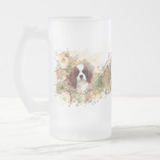 Cavalier King Charles Spaniel Frosted Glass Beer Mug