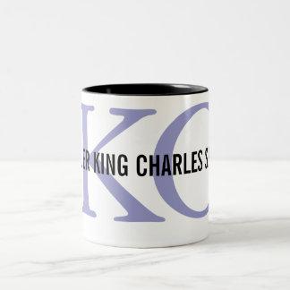 Cavalier King Charles Spaniel Monogram Design Two-Tone Coffee Mug