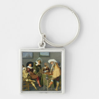 Cavaliers in a tavern key ring