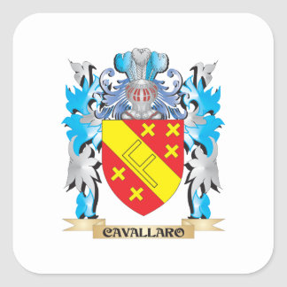 Cavallaro Coat of Arms - Family Crest Stickers