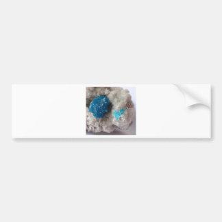 Cavansite on microstilbite ,India Bumper Sticker
