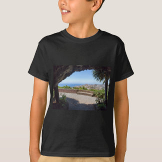 Cave outlook on sea and village on Madeira T-Shirt