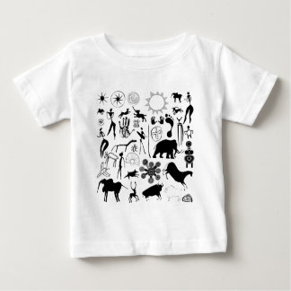 cave paintings - primitive art baby T-Shirt