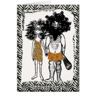 Cave People in Love Greeting Card
