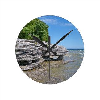 Cave Point Park Shoreline Round Clock