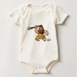 caveman baby bodysuit