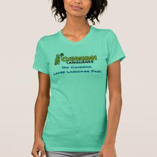 caveman-color, Go Caveman. Learn Language Fast. T-Shirt
