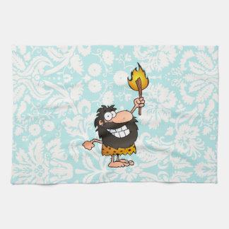 Caveman; Cute Tea Towel