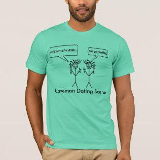 Caveman Dating Scene T-Shirt