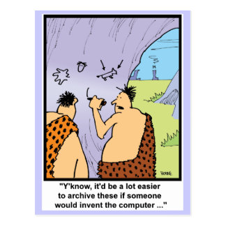 Caveman Style Postcard