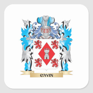 Cavin Coat of Arms - Family Crest Square Sticker