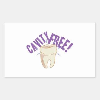 Cavity Free Rectangular Sticker