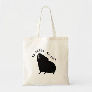 Cavyart No Peegs No Life Tote (Short Haired) Budget Tote Bag
