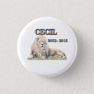 Cecil The Lion 3 Cm Round Badge