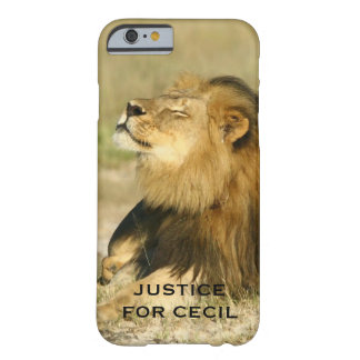 Cecil the Lion Killed in Africa Justice Barely There iPhone 6 Case