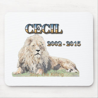 Cecil The Lion Mouse Pad