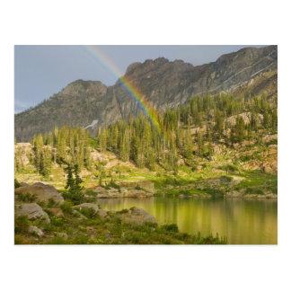 Cecret Lake with rainbow over Devil's Castle, Postcard