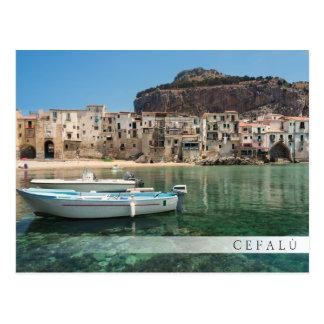 Cefalu town in Sicily Postcard