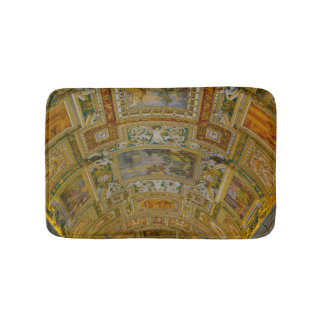 Ceiling in the Vatican Museum in Rome Italy Bath Mat