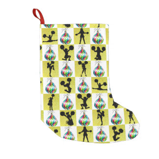 CELEBRATE CHEERLEADING CHRISTMAS DESIGN SMALL CHRISTMAS STOCKING