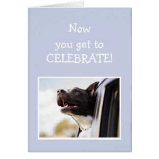 Celebrate Congratulations GRADUATION Happy Dog Card