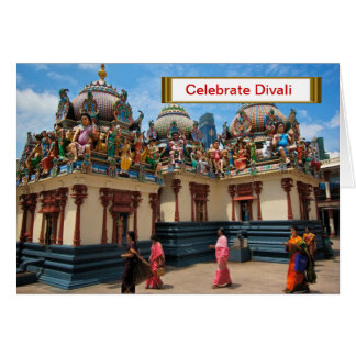 Celebrate Divali,  Ladies in the courtyard Card