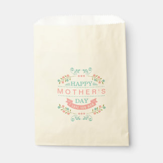 Celebrate Mother's Day Pastel Floral Flowers Decor Favour Bags